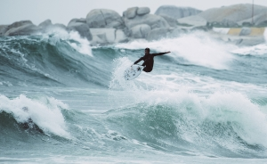 winter surfer