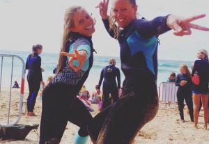 Sammy enjoying her new Billabong Synergy wetsuit